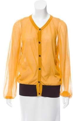 Marni Sheer Button-Up Cardigan