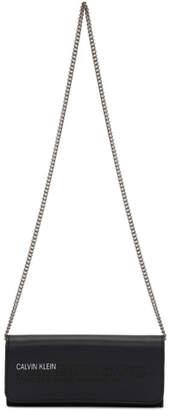 Calvin Klein Black Wallet Chain Bag