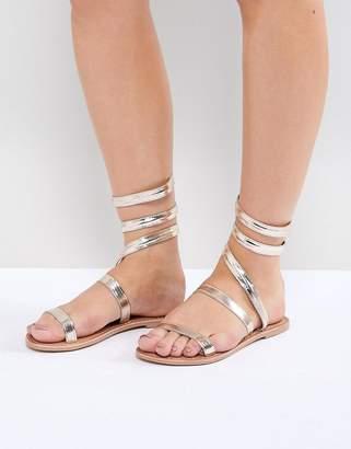 ff85a966492a Asos Design DESIGN Finale Leather Flat Sandals