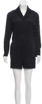 Rag & Bone Long Sleeve Notch-Lapel Romper