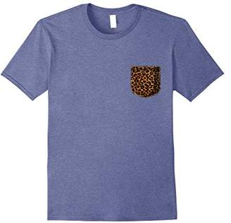 Animal Print T Shirt Leopard Cheetah Pocket Animal Print