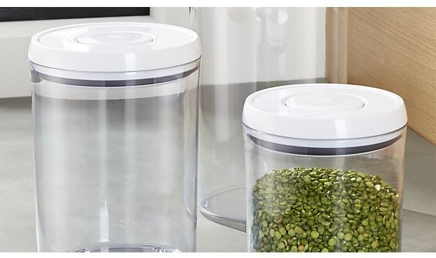 Crate & Barrel OXO ® Pop Round Containers with Lids, Set of 3