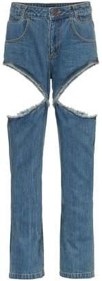 Telfar high waisted cutout jeans