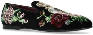 Dolce & Gabbana Young Pope Floral Slippers