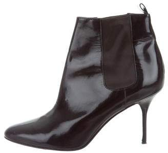 Pierre Hardy Leather Round-Toe Booties