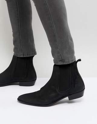 WALK LONDON Walk London Ziggy Leather Chelsea Boots In Black