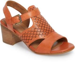 df35c6192f5 Comfortiva Amber Perforated Block Heel Sandal