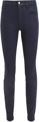L'Agence Marguerite Navy Coated High-Rise Skinny Jeans