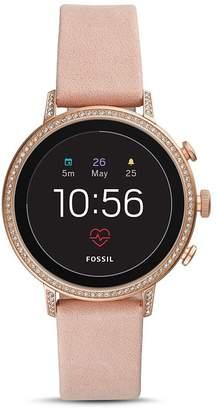 Fossil Q Explorist HR Pink Strap Touchscreen Smartwatch, 40mm