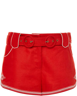 Zimmermann Ninety-Six Corded Linen Mini Shorts