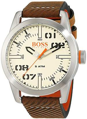 HUGO BOSS Men's 'Oslo' Quartz Stainless Steel and Leather Casual Watch