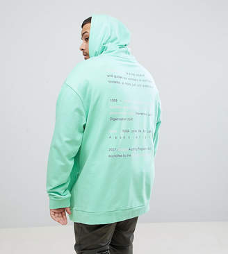 Puma Organic Cotton Hoodie With Back Print In Green Exclusive To ASOS