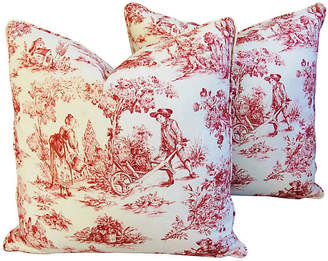 One Kings Lane Vintage French Country Toile Pillows
