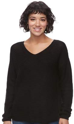 So Juniors' SO Textured V-Neck Sweater