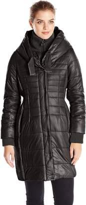 T Tahari Women's Paulette Packable Down Jacket with Hood