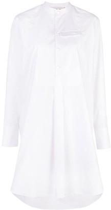 Marni high low hem shirt dress