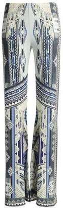 Camilla Crystal-Embellished Printed Jersey Wide-Leg Pants