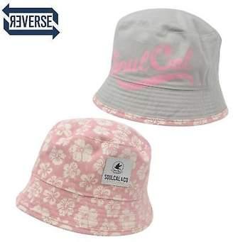 Soul Cal SoulCal Womens Bloom Ladies Bucket Hat Reversible Summer Sun Protection Headwear