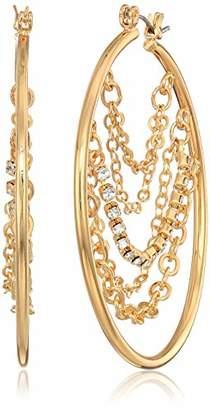 GUESS Women's Hoop Earrings with Stones
