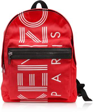 Kenzo Red Nylon Medium Sport Backpack