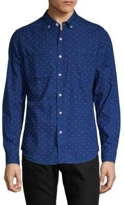 Report Collection Dot-Print Button-Down Shirt