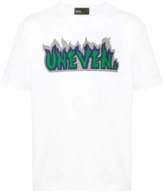 Kolor slogan patch T-shirt