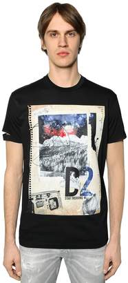 DSQUARED2 Notebook Printed Cotton Jersey T-Shirt