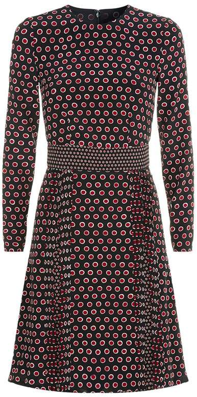 Burberry Spotted Silk Dress