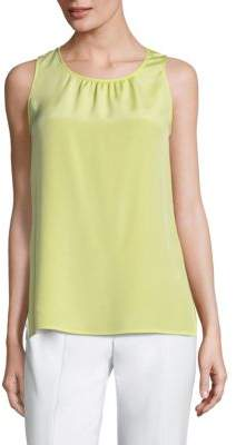 St. John Stretch Silk Sleeveless Top