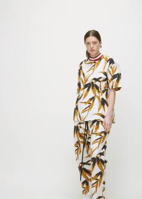 Marni swash print short sleeve crew neck blouse