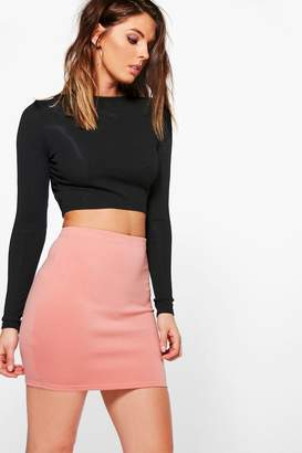 boohoo Scuba Basic Mini Skirt