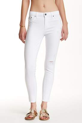 Tractr High Waisted Frayed Hem Skinny Jeans