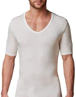 046c4550a07 Mens Deep Neck T-shirt - ShopStyle Canada