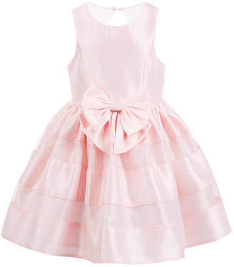 Pink & Violet Toddler Girls Bow-Front Dress