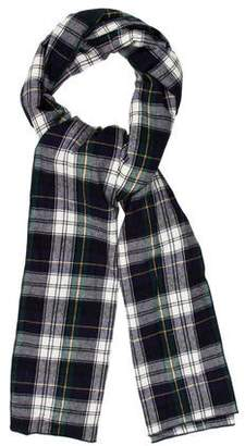 Donni Charm Plaid Wool-Trimmed Scarf w/ Tags