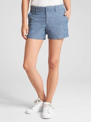 "Gap Mid Rise 3"" City Shorts in Chambray"
