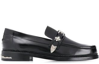 Toga Virilis silver-tone detail loafers