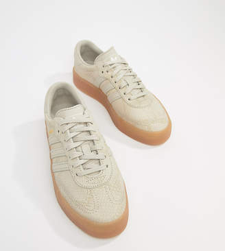 adidas Samba Rose Sneakers In Tan With Gum Sole
