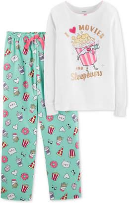 Carter's Little & Big Girls 2-Pc. I Love Popcorn Pajamas Set