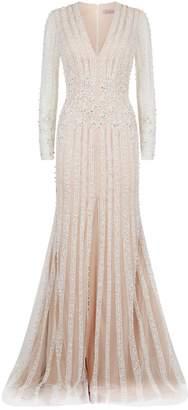 Jovani Embellished Front Slit Gown