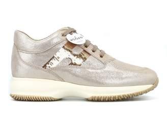 Hogan Interactive Shiny Suede Sneakers
