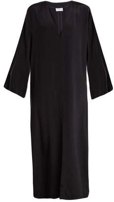 Raey - Kimono Sleeve Silk Beach Dress - Womens - Navy