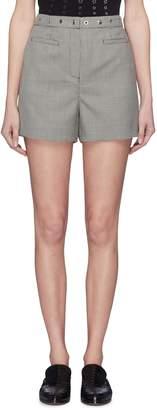 ALEXACHUNG Alexa Chung Snap button waist Houndstooth shorts
