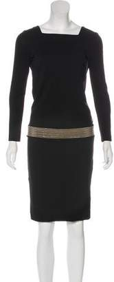 Gucci Embellished Knee-Length Dress