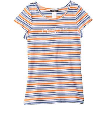 Bebe Striped Logo T-Shirt