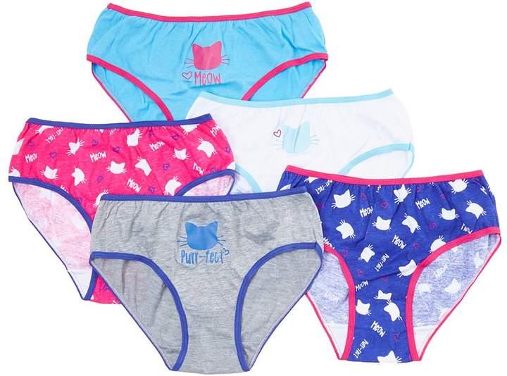 Blue & Pink Cats Cotton Underwear Set - Girls