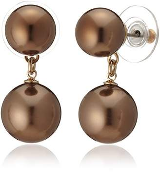 Carolee [キャロリー Jodi Sable Pearl Earrings 1502EP5009