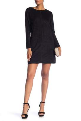 JOH APPAREL Stretch Faux Suede Dress