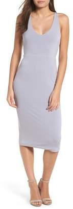 Leith Sleek Knit Midi Dress