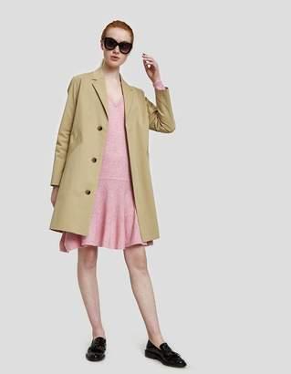 Ganni Mercer Knit Ruffle Hem Dress in Sea Pink